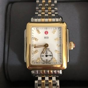 Michele Silver & Gold Watch